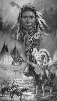 Native Americans tattoo by orfanto - Indianer Gemälde - Native American Drawing, Native American Cherokee, Native American Tattoos, Native American Warrior, Native American Paintings, Native American Pictures, Native American History, Native American Indians, Native Americans