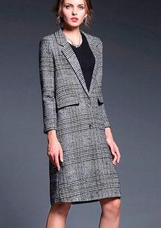 Product coat Color black Type long blazer coat Material polyester.nylon  Shape… b96695e3e7