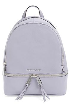 fab00477cc8f MICHAEL MICHAEL KORS  Small Rhea Zip  Leather Backpack.  michaelmichaelkors   bags  leather  lining  backpacks