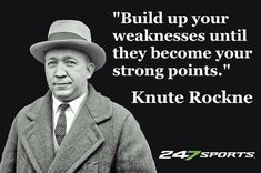 Notre Dame Football, College Football Teams, Football Coaches, Notre Dame Indiana, Knute Rockne, Touchdown Jesus, Motivational Quotes For Life, Life Quotes, Inspirational Quotes