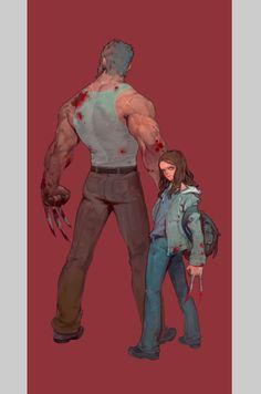 Wolverine  , FENGLI LEE on ArtStation at https://www.artstation.com/artwork/NeROz