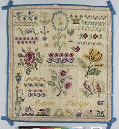Sampler                                                                                 Date:                                      19th century                                                       Culture:                                      French