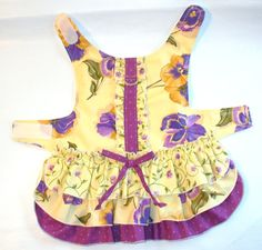 Ruffled Layer Cake DOG Harness Dress Puppy dress or small pet clothes