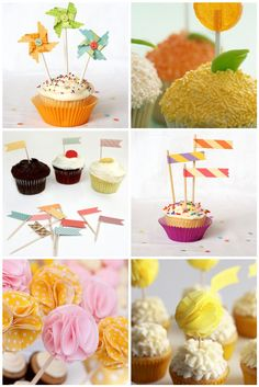 Inspiration: DIY Cupcake Toppers