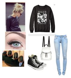 Haleb forever #Haleb #prettylittleliars by sharebear1000 on Polyvore featuring Anine Bing, Converse and rag & bone