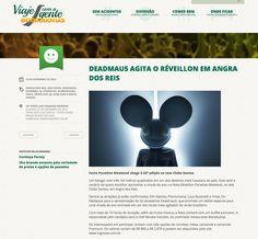 Deadmau5 agita o Réveillon em Angra dos Reis