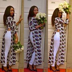 Kiki's Fashion: White Roses + Ankara