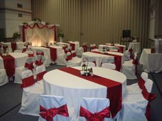Adore Your Decor: Reception at West Jordan Cultural Hall Red And White Wedding Decorations, Red And White Weddings, Quince Decorations, Wedding Stage Decorations, Wedding Centerpieces, Champagne Wedding Decorations, Red Silver Wedding, Burgundy Wedding Theme, Spring Wedding Colors