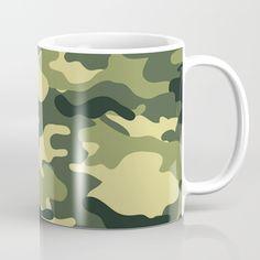 Camouflage Black and White Coffee Mug by camouflagedextergornez Black And White Coffee, White Coffee Mugs, Camouflage, Ceramics, Tableware, Stuff To Buy, Ceramica, Pottery, Dinnerware