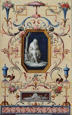 Jose Castillo - Adorno pompeyano: El invierno, 1785/90. Museo del Prado.