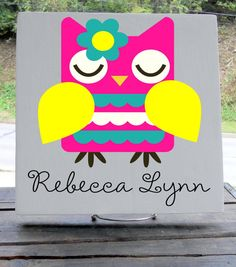 11x11 Wooden Tile  Name Sign Perfect for Little by WiseOwlWorkshop, $24.00