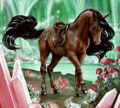 Herd: Starlight Title: Herald of the Winter Festival Cute Horses, Pretty Horses, Horse Love, Beautiful Horses, Mythical Creatures Art, Mythological Creatures, Fantasy Creatures, Dragon Horse, Unicorn Fantasy