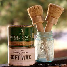 Chalk paint and wax tutorials
