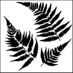 Featuring three fern leaves, use this stencil to add a touch of woodland nature to your glass art work. Description from warm-glass.co.uk. I searched for this on bing.com/images