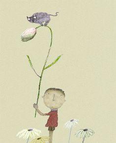 Ilustración de 花開了