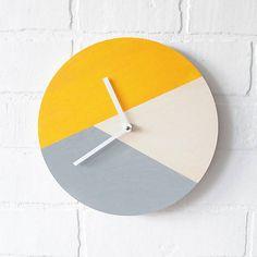 Nástenné hodiny Žlto-sivé