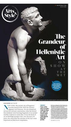 The Grandeur of Hellenistic Art on Show at the Met|Epoch Times #Greek #Arts #MetMuseum #newspaper #editorialdesign