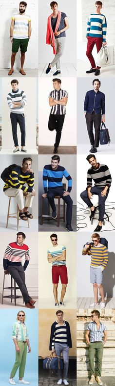 Men's 2015 Spring/Summer Fashion Trend: Statement Stripes For The Everyday Man Lookbook Inspiration