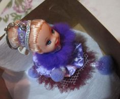 chaveiro boneca bailarina lilás