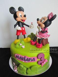 Doces Opções: O Mickey e a Minnie no 3º aniversário da Mariana