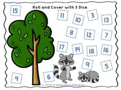 Fun Math Centers for Kindergarten! Kissing Hand beginning of the year free math center! Number sense ideas for the whole year! Dice Games, Math Games, Preschool Activities, Preschool Math, Kindergarten, Kissing Hand Activities, The Kissing Hand, Free Math, Camping Theme