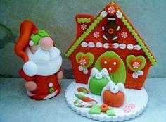 Santa Polymer Clay Christmas Holiday por countrycupboardclay