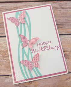 Stampin' Up! UK Feeling Crafty - Bekka Prideaux Stampin' Up! UK Independent Demonstrator: Swirly Scribbles Butterfly Birthday Card