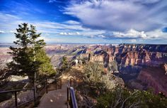 The Grand Canyon needs no introduction, and thoroughly deserves its place on the list of incredible canyons to visit. Hikes along the rim either for sunrise or sunset are a guaranteed spectacle of colors and lights, or take it easy, perhaps opting for the shuttle rides around Hermit's road, with stops to enjoy views from the different lookouts. For a full panoramic view above the 2952-mile drop, Mather Point on the Rim Trail is your best bet.