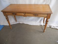 Antique Edwardian Ash Side Table / Hall Table