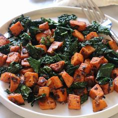 Vegan Sweet Potato & Kale Hash | The Mostly Vegan