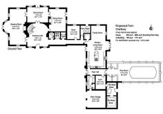 Oy!  The British and their impractical floor plans!  Look how far the kitchen is from the dining room!