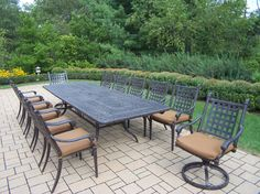 Belmont 13 Piece Extendable Dining Set with Cushions