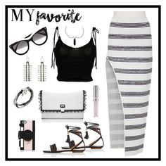 """""""Summer #36 - """"My Favorite"""""""" by sammers-i on Polyvore featuring Alice McCall, Aquazzura, Ten Thousand Things, Lizzy James, Blumarine, Proenza Schouler, STELLA McCARTNEY, Kate Spade and Chantecaille"""