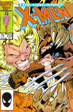 The Uncanny X-Men #213 (1981 series) - cover by Alan Davis