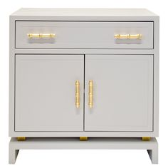 Worlds Away Marcus Grey Cabinet @Layla Grayce - love this for your nightstands