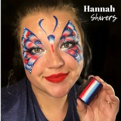 by Silly Heather 4th Of July Makeup, Butterfly Face Paint, 4th Of July Celebration, Let Freedom Ring, Colorful Eye Makeup, Face Painting Designs, Fourth Of July, Independence Day, Fireworks