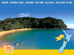 Discover the Nelson Tasman region in New Zealand. Find information on activities, attractions, accommodation, restaurants and more in Nelson, NZ. Travel And Tourism, Travel Guide, Kayaking, New Zealand, Travel Inspiration, Golf Courses, National Parks, Sunshine, Boards