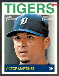 Victor Martinez Detroit Tigers Topps Heritage Insert Card 2014 Topps BUNT