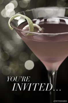 Throw a pre-party with your friends before the movie. Cocktails. Conversation. #FiftyShades | Fifty Shades of Grey | In Theaters Valentine's Day