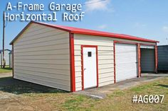 Get your A-Frame Garage at lowest prices. We offer A-frame horizontal-roof style garages build with the finest material. Coast To Coast Carports, Metal Garages, Roof Styles, Steel Buildings, Outdoor Storage, Building A House, Garage Doors, Shed, Outdoor Structures