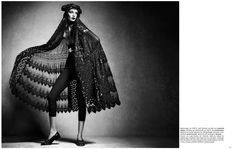 Vogue Germany 2014 lace matador shawl