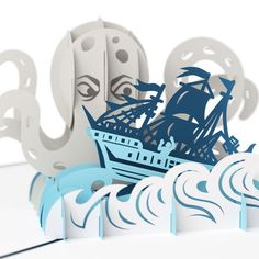 LovePop 3D Pop-Up Greeting Card - Release the Kraken - INPCreative - 1
