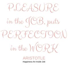 "Pleasure in the job puts perfection in the work . . I love Aristotle. . . Podcast 11 is up!!! Click the link above for ideas on how to decide if an activity should be allowed space on your calendar. . . One important point of consideration is ""Does this activity bring you joy?"" . . According to Aristotle, you are actually more likely to do a good job if you find joy in what you are doing! . . . . . #guardyourtime #sleep #importanceofsleep #newpodcast #sayno #saynomore #freetime… Inside Job, Finding Joy, Good Job, Consideration, Calendar, Sleep, Thoughts, Sayings, Space"