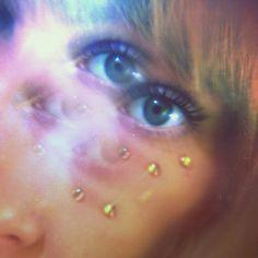 layered girl glitch trippy face eyes