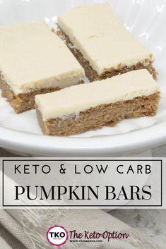 Keto Pumpkin Bars - Food and Drink Keto Foods, Keto Diet Drinks, Keto Approved Foods, Diet Menu, Health Foods, Vegan Keto, Dieta Vegan, Keto Diet List, Starting Keto Diet