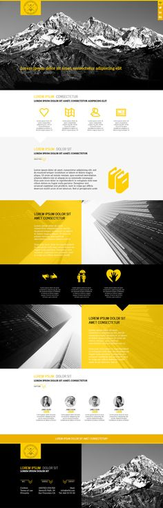 Yellow Business PSD Template by W3D Design on @creativework247