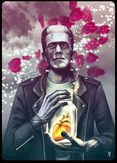 Super zombie pop art ilustration bride of frankenstein Ideas Mike Bell, Pop Art Zombie, Hybrid Moments, Frankenstein's Monster, Monster Squad, Bride Of Frankenstein, Classic Monsters, Psychobilly, Mary Shelley