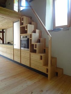 stairs that lift up on a pulley system the counter. Black Bedroom Furniture Sets. Home Design Ideas