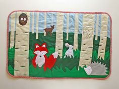 Need to make this for Amanda some day! Felt rug tutorial from Running with Scissors via Tatertots & Jello Felt Diy, Felt Crafts, Sewing Crafts, Sewing Projects, Felt Projects, Animal Rug, Childrens Rugs, Woodland Creatures, Woodland Animals