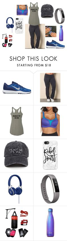 """getfit"" by lm-ferrell on Polyvore featuring NIKE, Wacoal, Casetify and Fitbit"